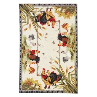 Safavieh Chelsea HK56A Roosters Area Rug   Ivory   Area Rugs