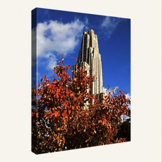 Replay Photos Pittsburgh Autumn Leaves and the Cathedral of Learning Wall Art   Photography