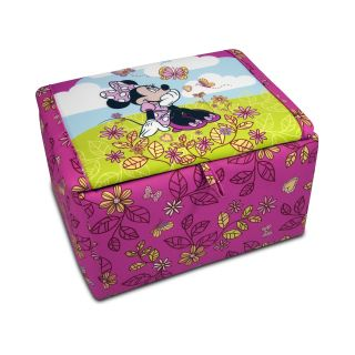 Disney Minnie Mouse Cuddly Cuties Upholstered Storage Box   Toy Storage