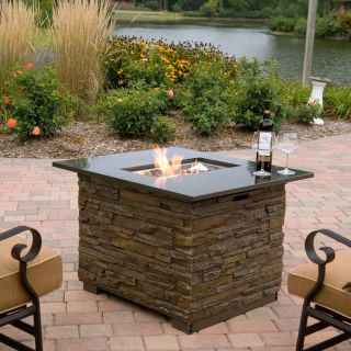 Florence Gas Fire Pit Table with Cover   Propane Fire Pits