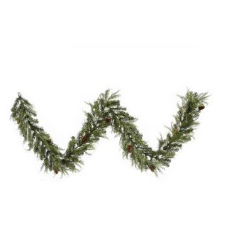 Vickerman 9 ft. Cedar Pine Cone Garland   Christmas Garland