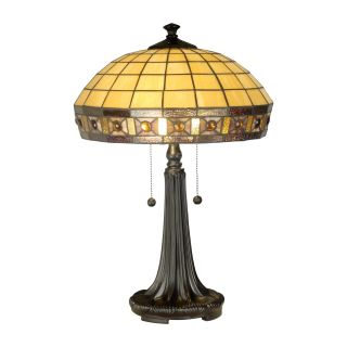 Dale Tiffany Jewel Square Panel Tiffany Table Lamp   Tiffany Table Lamps