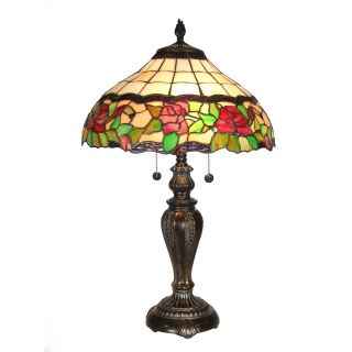 Dale Tiffany Rose Floral Table Lamp   Tiffany Table Lamps