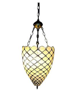 Tiffany Style Jeweled Hanging Pendant   Tiffany Ceiling Lighting