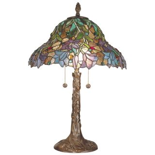 Dale Tiffany Burdett Art Glass Table Lamp   Tiffany Table Lamps