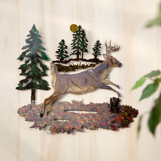 Buck Indoor / Outdoor Light Reflective Wall Art   Outdoor Wall Art