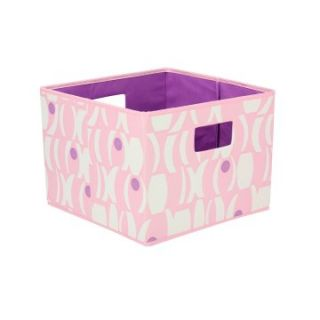 Household Essentials Open Storage Bin   Geo Print   Pink and Purple   Home Magazine Racks