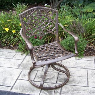 Oakland Living Mississippi Cast Aluminum Swivel Rocker