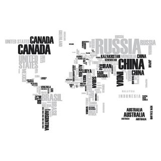 World Map XL Stickers   Crearreda   Wall Decals