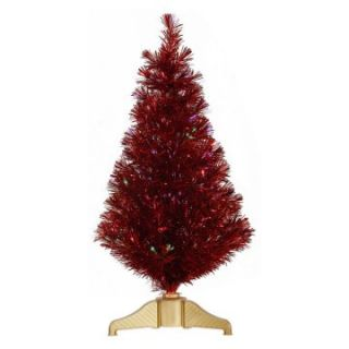Vickerman 3 ft. Red Fiber Optic Christmas Tree   Christmas Trees