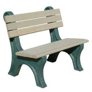 Park Classic 4 ft. Commercial Grade Armless Park Bench   Outdoor Benches