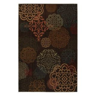 Mohawk Kaleidoscope Sienna Dark Brown Rug   Area Rugs