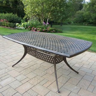 Oakland Living Oxford Cast Aluminum 70 x 40 in. Patio Dining Table   Patio Tables