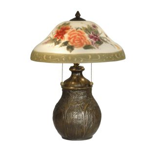 Dale Tiffany Hand Painted Floral Table Lamp   Tiffany Table Lamps