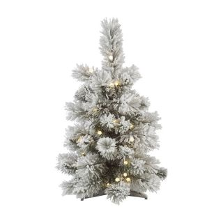 Aspen Flocked Pre Lit LED Table Top Christmas Tree   Christmas Trees