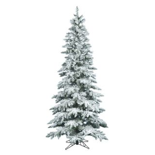 Vickerman 7.5 ft. Flocked Slim Utica Fir Christmas Tree   Christmas Trees