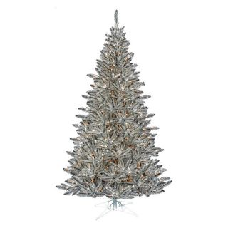 Pewter Tinsel Pre lit Christmas Tree   Christmas Trees