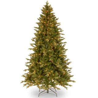 7.5 ft. Feel Real Avalon Spruce Hinged Pre Lit Christmas Tree   Clear Lights   Christmas Trees