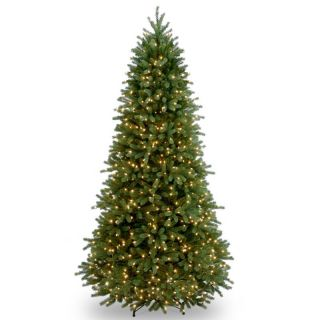 7.5 ft. Feel Real Jersey Fraser Slim Fir Hinged Pre Lit Christmas Tree   Clear Lights   Christmas Trees