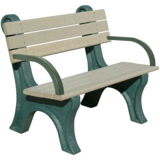Park Classic Commercial Grade Park Bench   Outdoor Benches