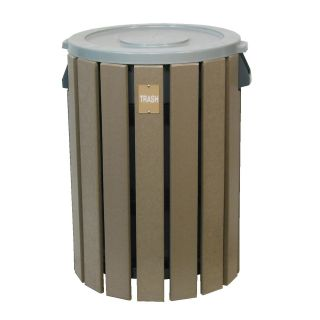 32 Gallon Cylinder Trash Receptacle   Trash Cans