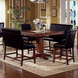 Steve Silver Plato 5 Piece Counter Height Nook Dining Table Set   Dining Table Sets