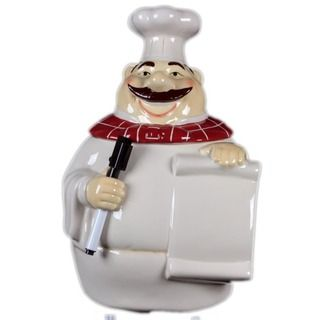 Urban Trends Collection 15 inch Ceramic Chef Canister Urban Trends Collection Vases