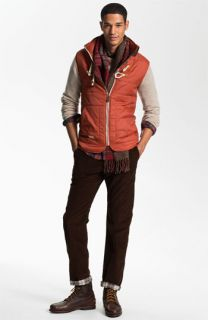 Marshall Artist Quilted Vest, 1901 Crewneck Sweater, Gant Rugger Plaid Shirt & Toddland Lined Corduroy Pants