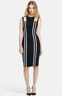 FELICITY & COCO Stripe Colorblock Sheath Dress ( Exclusive)