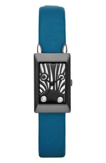 MARC BY MARC JACOBS Critter Zebra Dial Leather Strap Watch, 16mm x 26mm
