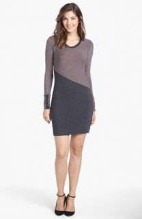 Three Dots Colorblock Sweater Dress