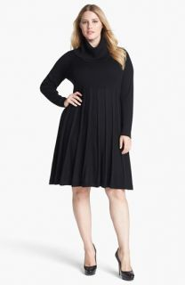 Calvin Klein Fit & Flare Sweater Dress (Plus Size)