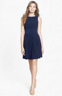 Eliza J Pleated Stretch Woven Dress