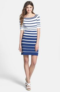 Trina Trina Turk Olive Stripe Sweater Dress