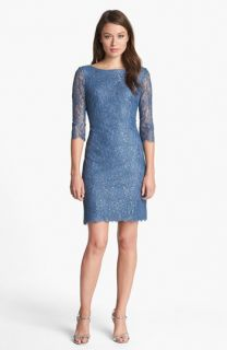 Calvin Klein Metallic Lace Sheath Dress (Petite)