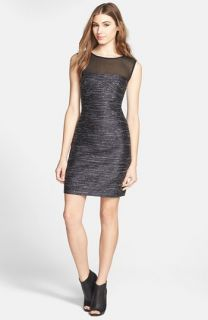 Betsy and Adam Stud Embellished Sheath Dress (Plus Size)