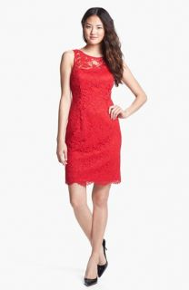 Adrianna Papell Sleeveless Lace Sheath Dress