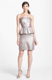 Adrianna Papell Metallic Peplum Sheath Dress
