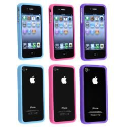 Pink/ Purple/ Blue TPU Rubber Cases for Apple iPhone 4/ 4S BasAcc Cases & Holders