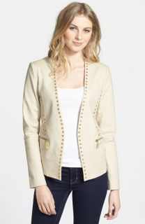 MICHAEL Michael Kors Grommet Detail Stretch Cotton Jacket