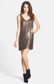 Nicole Miller Sequin Silk Shift Dress