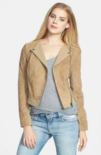 Blanc Noir Leather & Suede Moto Jacket (Online Only)