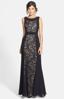 JS Collections Ottoman & Lace Scoop Back Gown