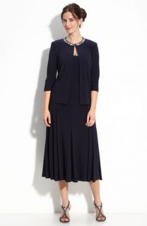 Alex Evenings Beaded Jersey Dress & Jacket