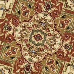 Lyndhurst Collection Ivory/ Rust Rug (5'3 Round) Safavieh Round/Oval/Square