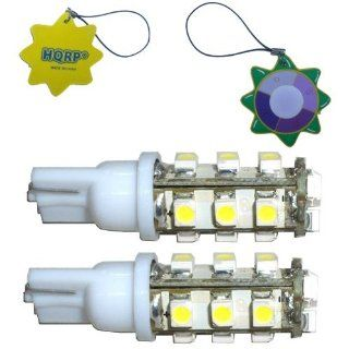 HQRP 2 Pack Tower Type T10 Wedge Base 15 LEDs SMD LED Bulb Cool White for #194 #168 Cruiser RV Fun Finder Travel Trailer RV Interior / Ceiling Lights Replacement plus HQRP UV Meter Automotive
