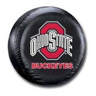 BSS   Ohio State Buckeyes NCAA Spare Tire Cover (Large) (Black)