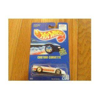 Mattel Hot Wheels 1991 164 Scale Silver Gleam Team Corvette Stingray Die Cast Car #192 Toys & Games