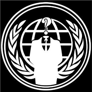"""Anonymous"" Internet Hacker Vinyl Decal Sticker VW BMW JDM Car FREE USPS SHIPPIN Automotive"