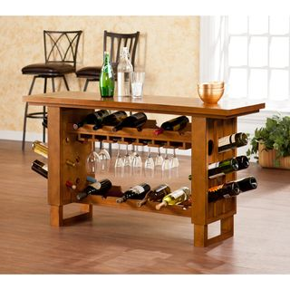 Upton Home Meridian Riddling Wine Console/ Bar Table Upton Home Bar Tables